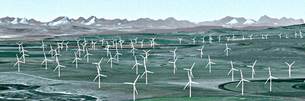 Windfarm Visualization Benign Energy