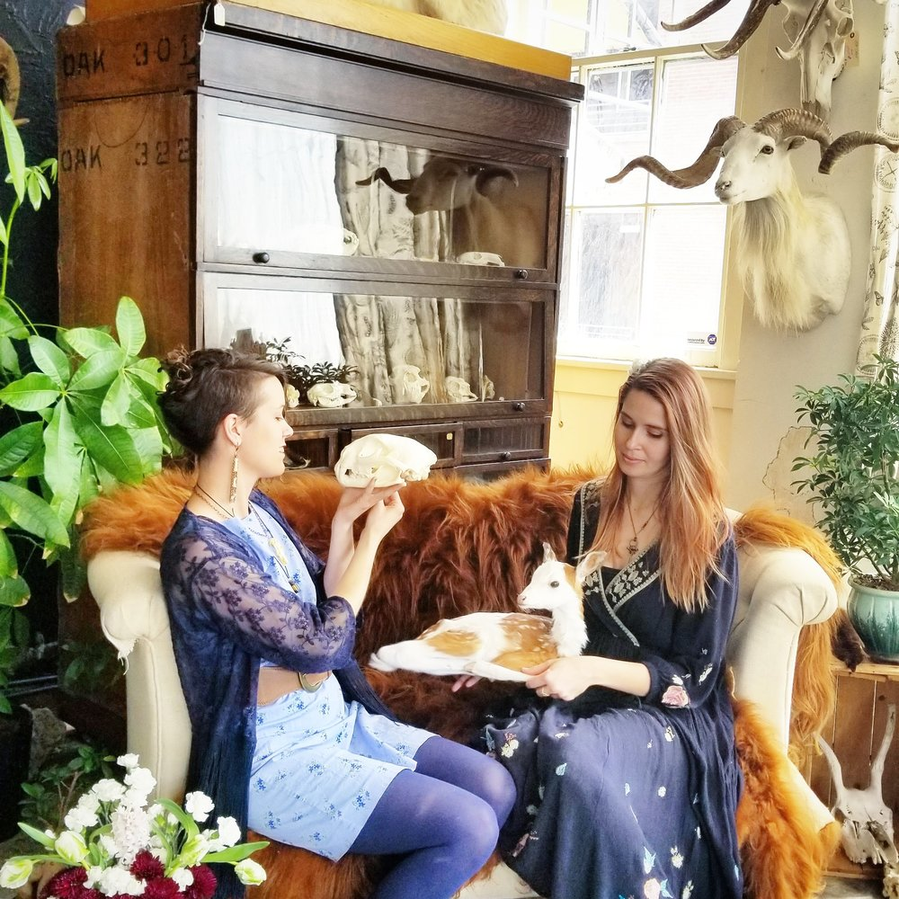 We have Tara Milleville of Psilocybin Jewelry & Laura Pensar of Moth & Candle tarot readings. We will also coffee & cocktails! 12-6pm  We are so proud of the community that we are in - Bring in a receipt from any of our neighbors to get an extra 10% off for small biz Saturday. Shop Small & Shop Local! Kansas City has such an amazing community of artists and small business  Proud of our neighborhood! #kccrossroads  - xo Alessandra & Teri