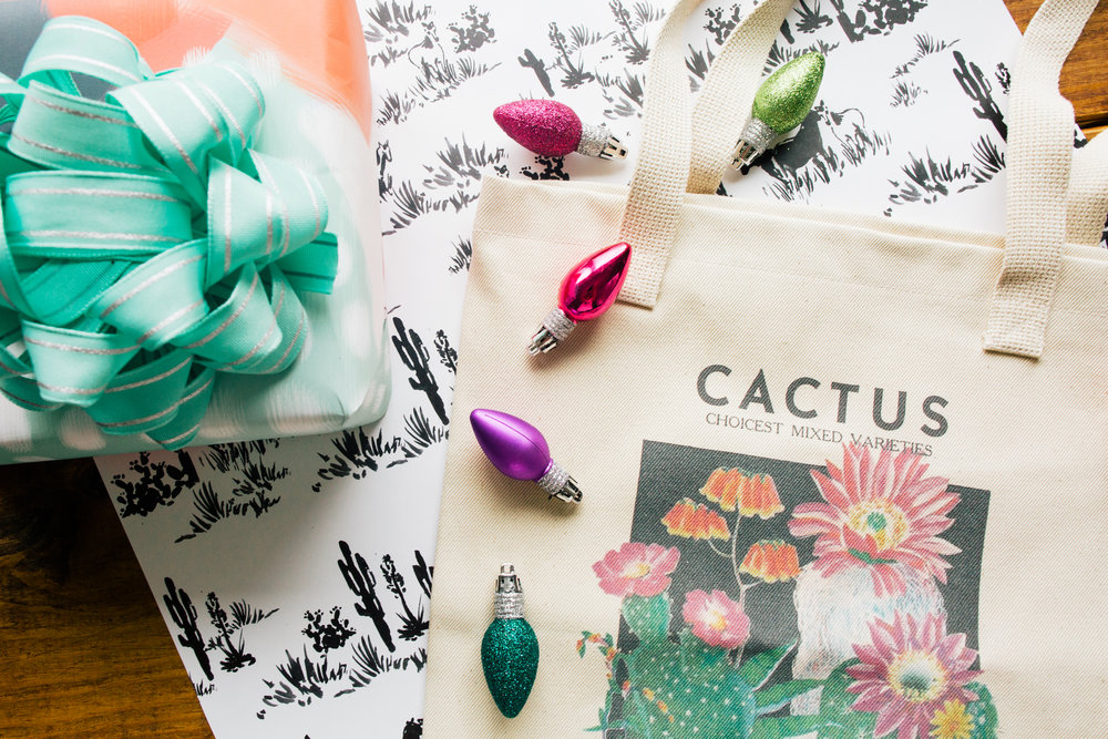 Cactus Botanical Tote by Curious Prints!