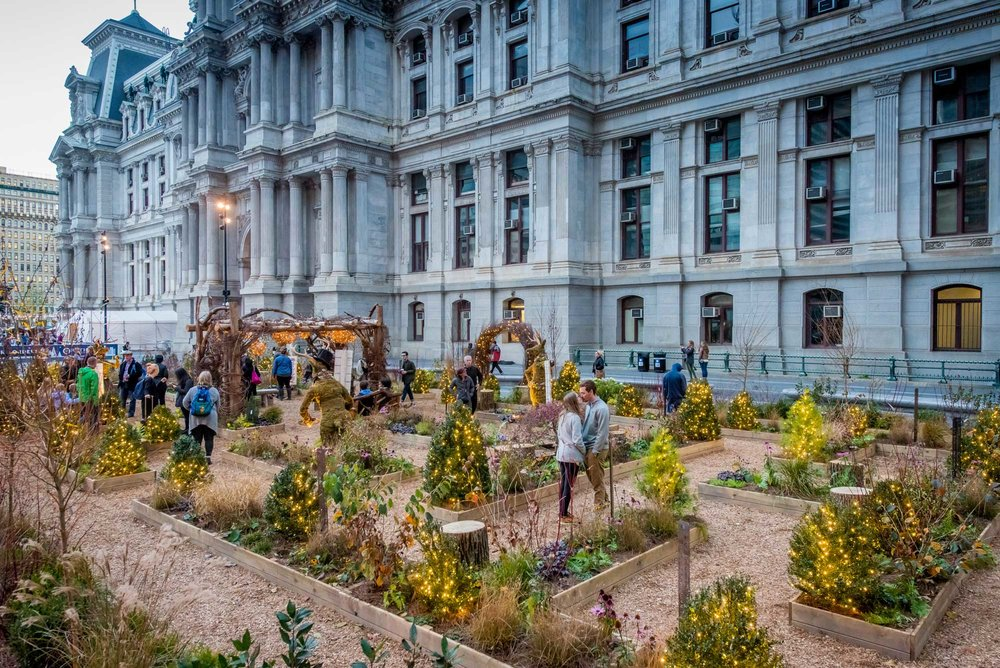 Experience the new America's Garden Capital Maze at Dilworth Park