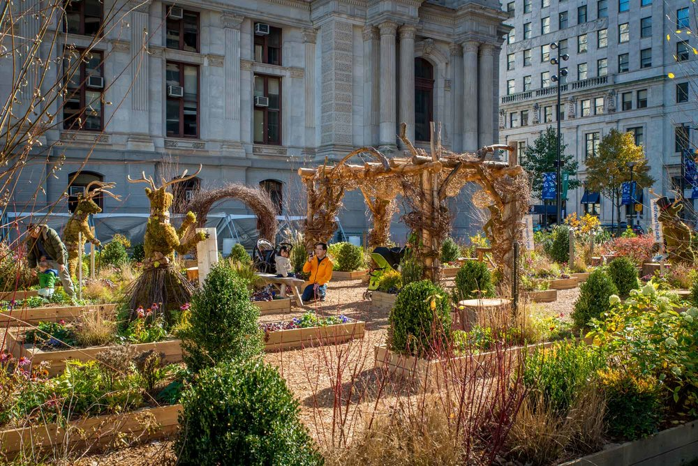 Great winter 'photo opps' at America's Garden Capital Maze at Dilworth Park
