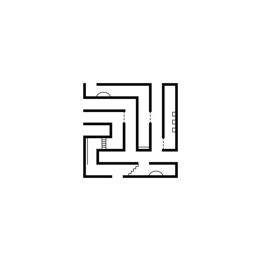 Day 37  길 /gil/ 길 means way, road, or street in Korean. So here is a maze, where you must decide where/how to go every corner without knowing what's going to come up. Realizing everyday how everything we do is a solid choice.