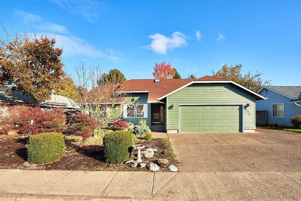SOLD! Gardener's paradise along the walk path in McMinnville.