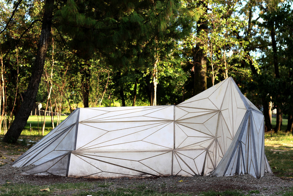 Corner (2014) Socrates Scuplture Park  Viroc, vinyl, plywood