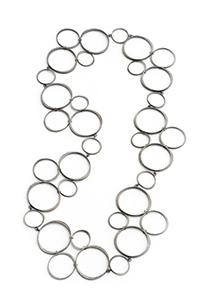 Continuous Tetrad Circlet Necklace