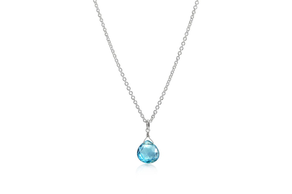 Briolette Birthstone Necklace