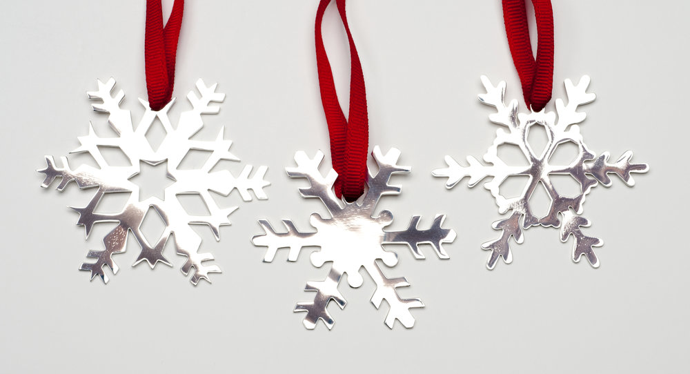 Set of three Snowflakes