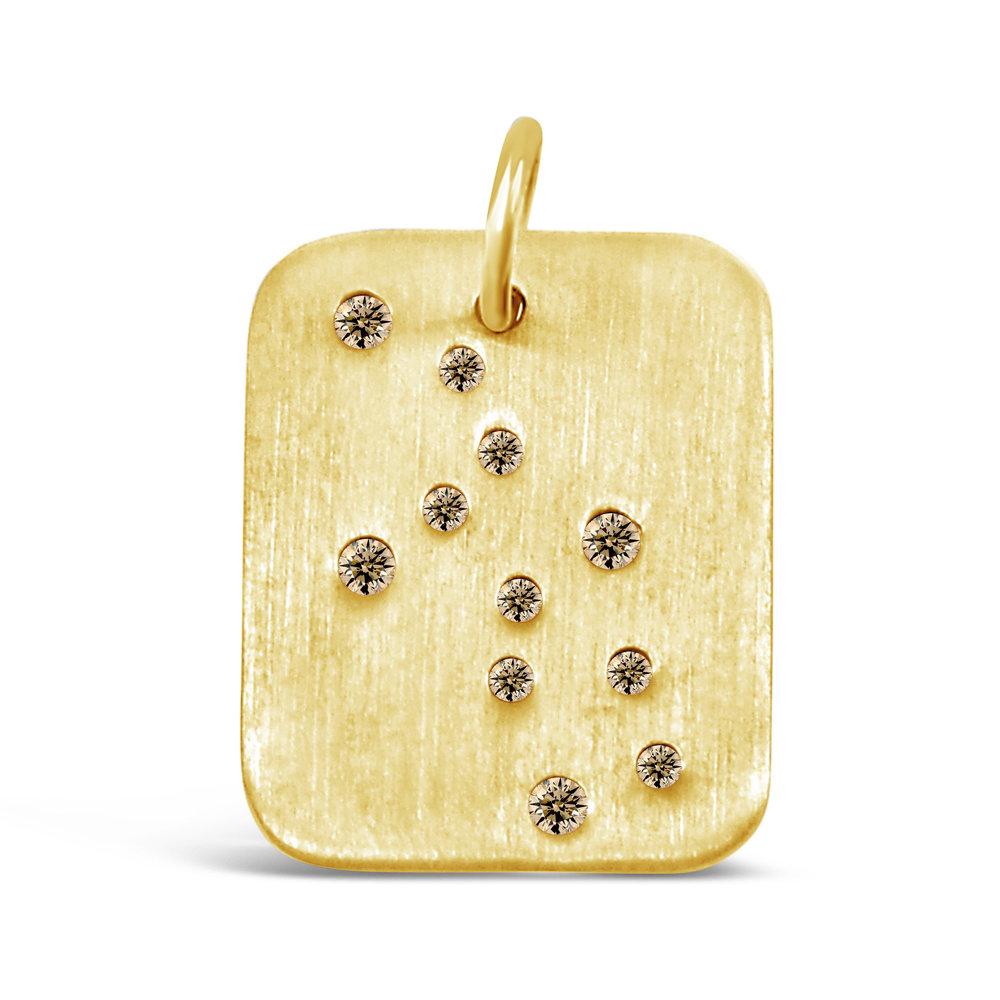 Gold Virgo Pendant