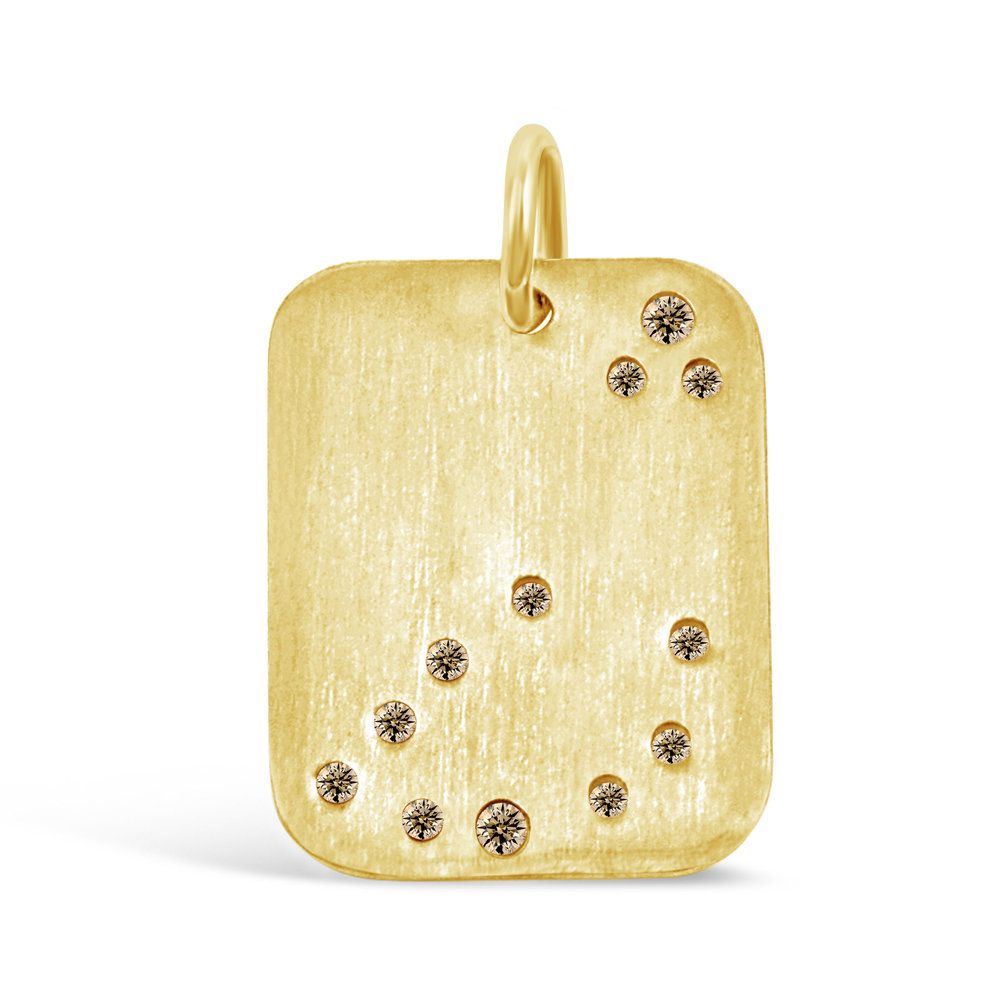 Gold Capricorn Pendant
