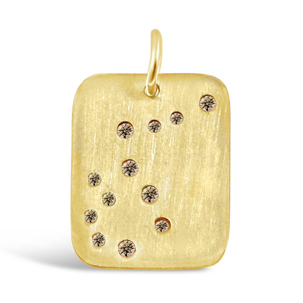 Gold Aquarius Pendant