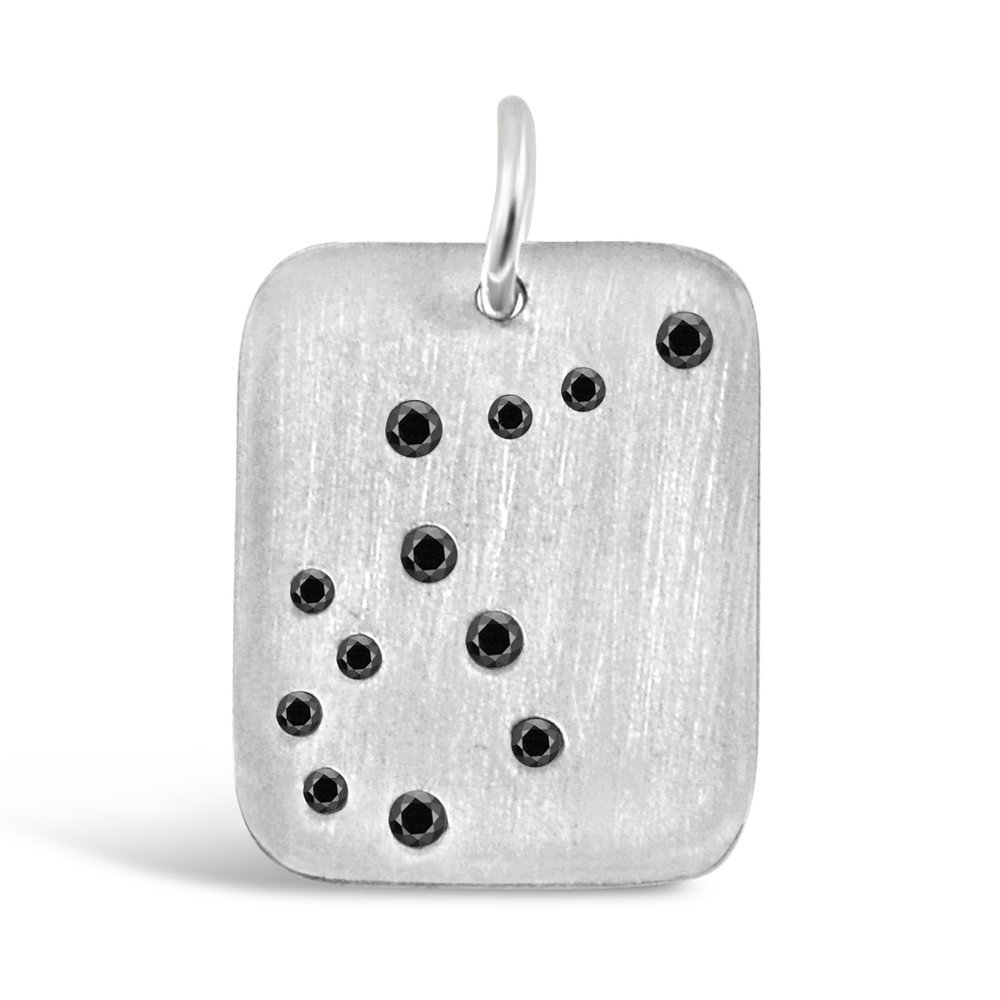 Sterling Silver Aquarius Pendant