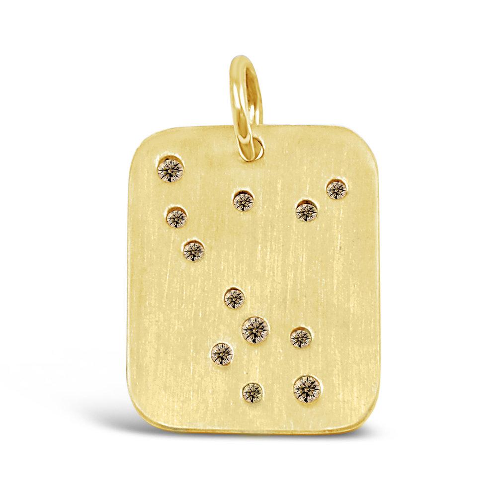 Gold Pisces Pendant