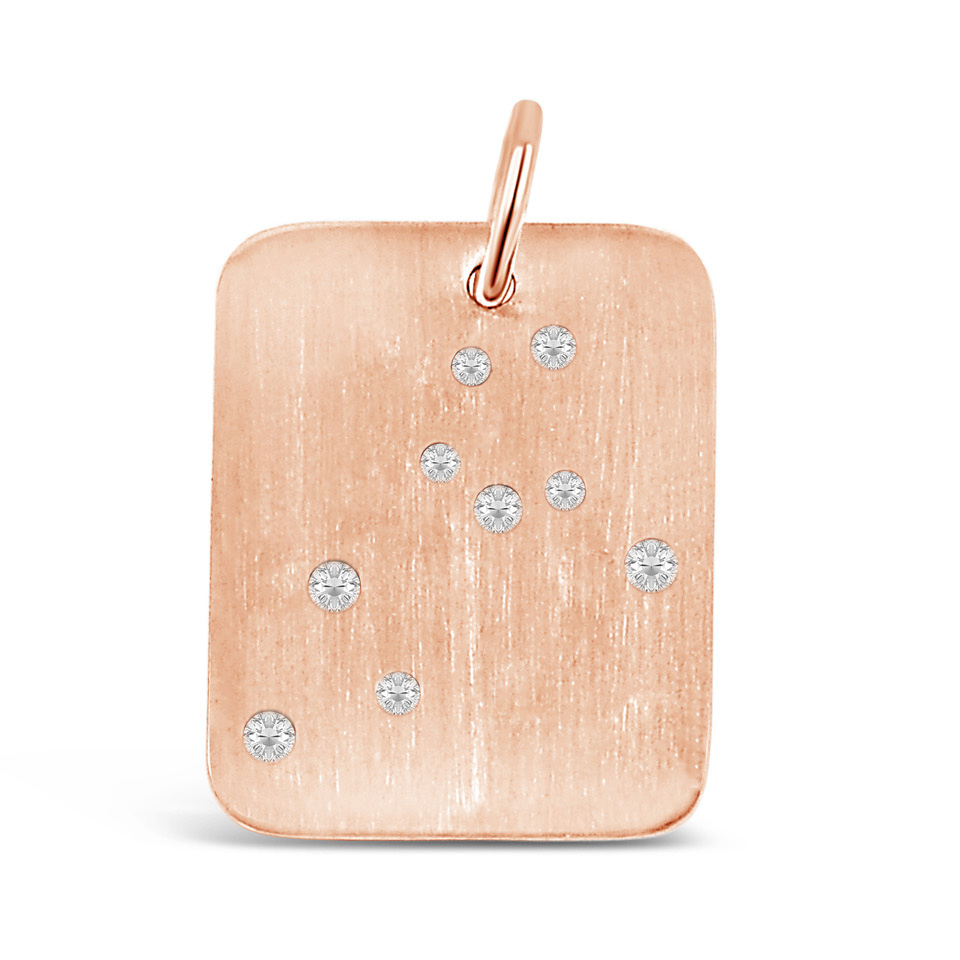 Rose Gold Leo Pendant