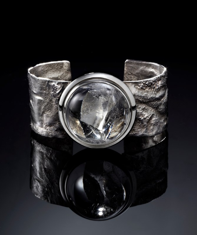 Reticulated Quartz Cuff Bracelet 2013