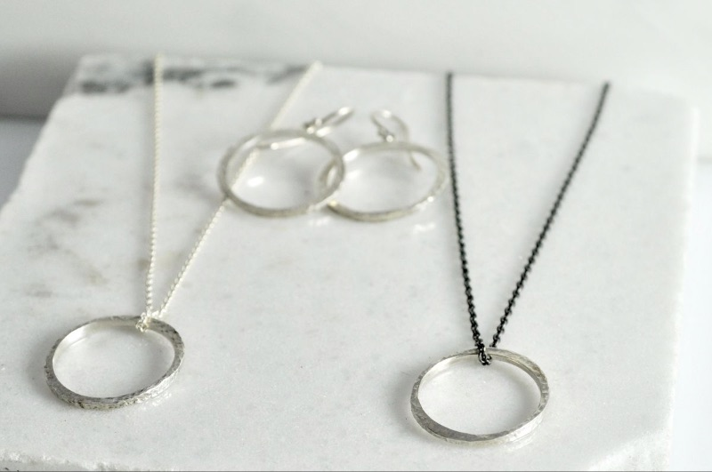 This month if you buy our Mini Circlet Necklace you get a pair of Mini Circlet Earrings FREE!