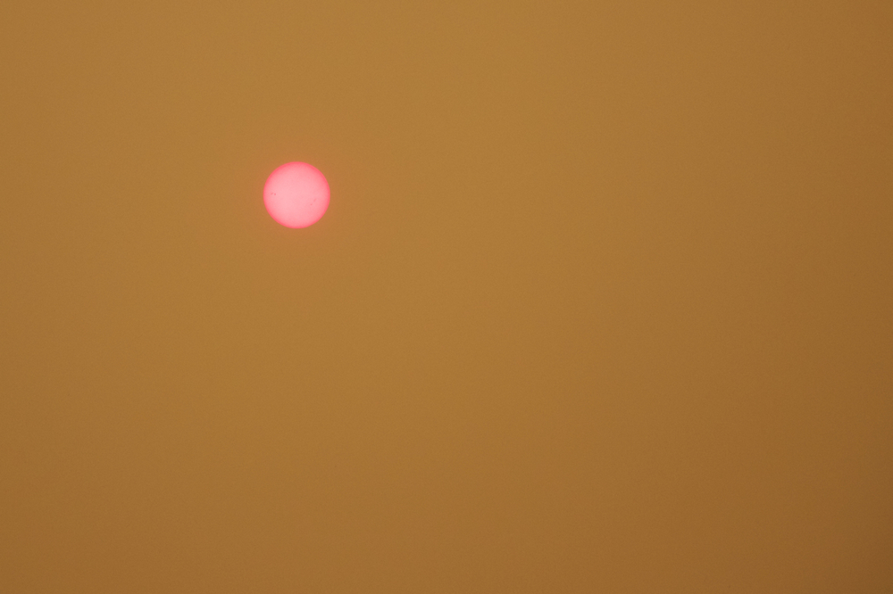 """Lake Fire: Sun through the Smoke"""