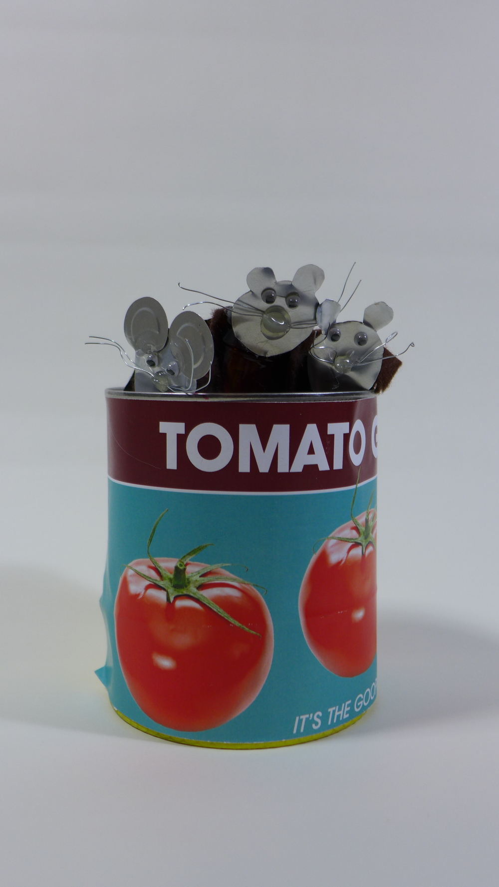 Family of Mice Living in a Tomato Can (glove puppet)