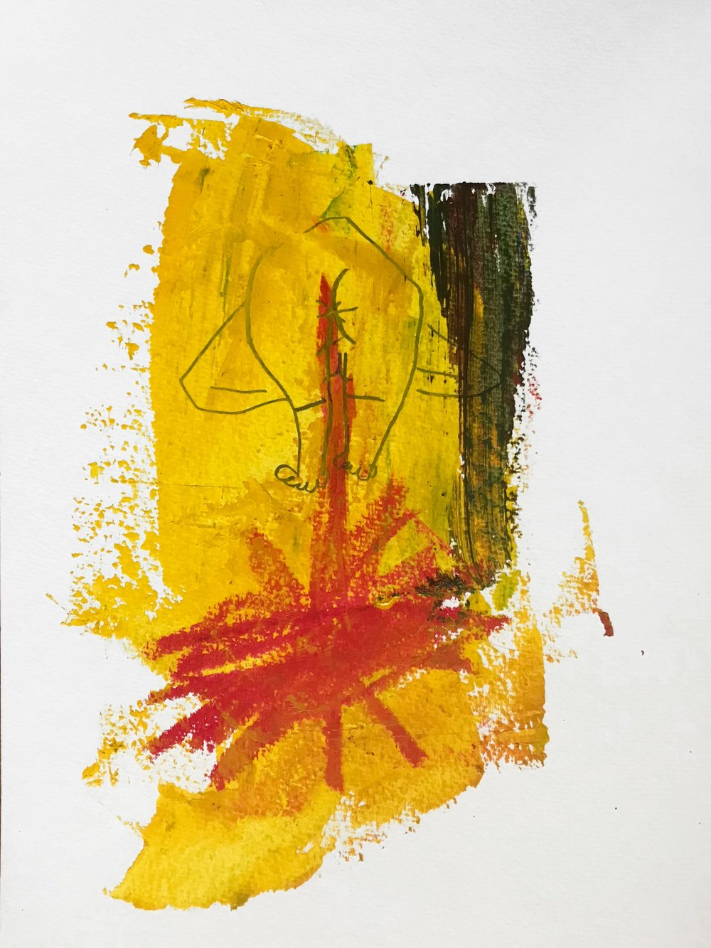 Period Blood  Acrylic, graphite, oil pastel on paper 24 x 32 cm