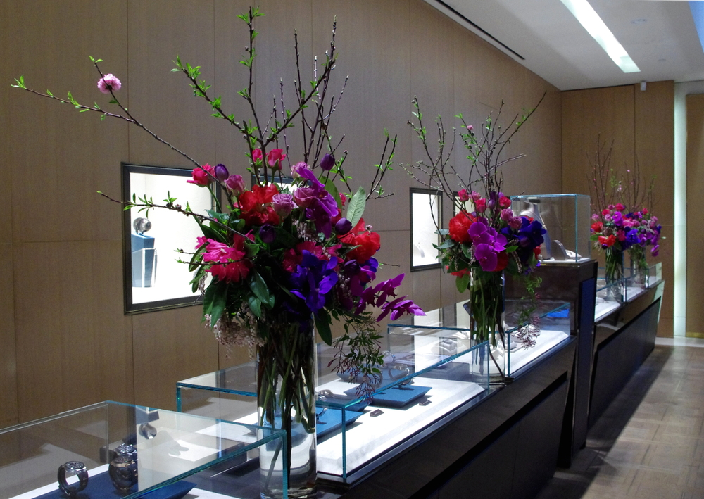 Bulgari event magenta tall arrangements.jpg
