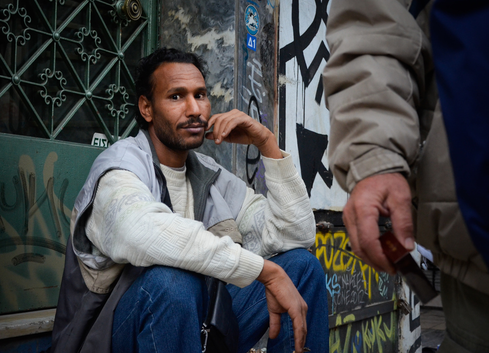 Monastiraki seller / Athens, Greece  November 2012