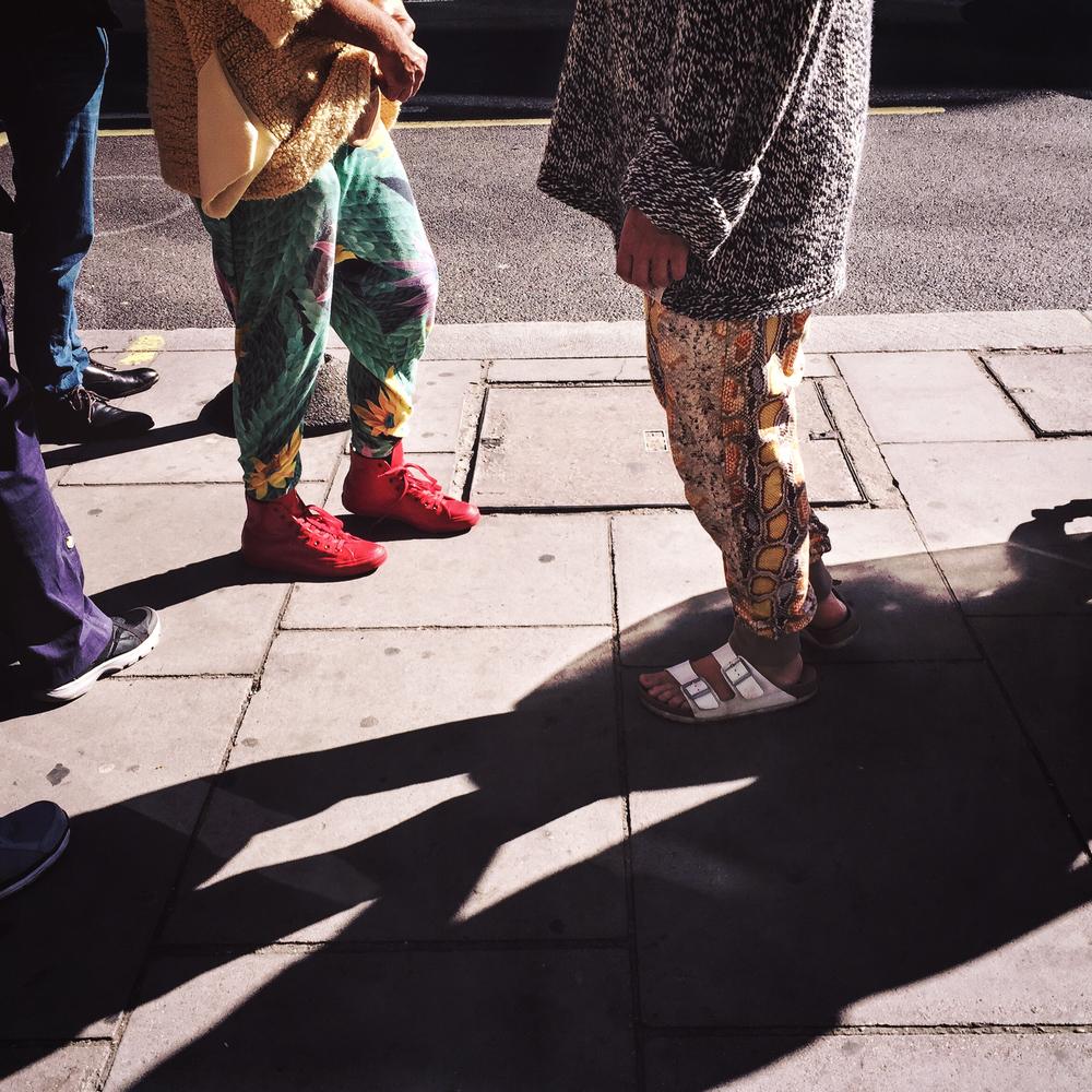 Street fashion in Knightsbridge, London, 2015.