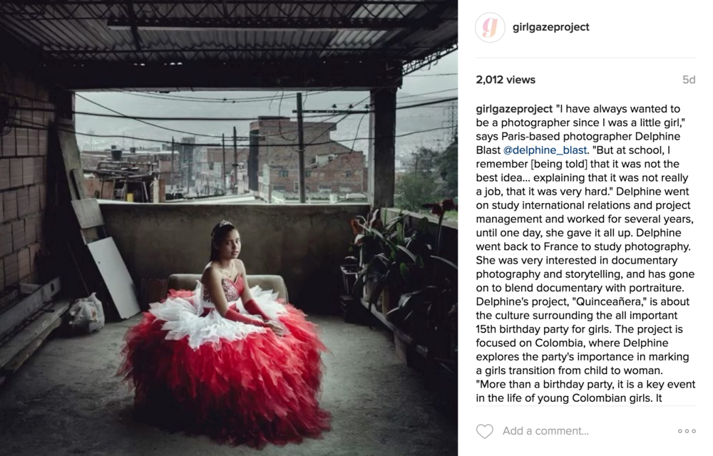 """Girls Behind the Lens"" Interview Series:  Delphine Blas t, photographer of ""Quinceañera."""