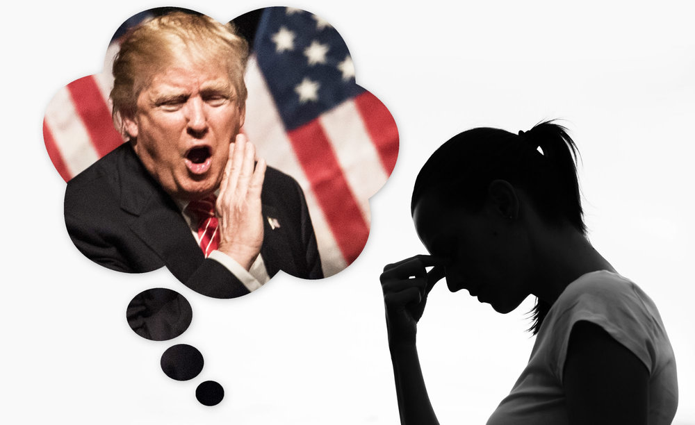 """New York Daily News Photo Illustration:    """"How to cope with President Trump Stress Disorder."""""""