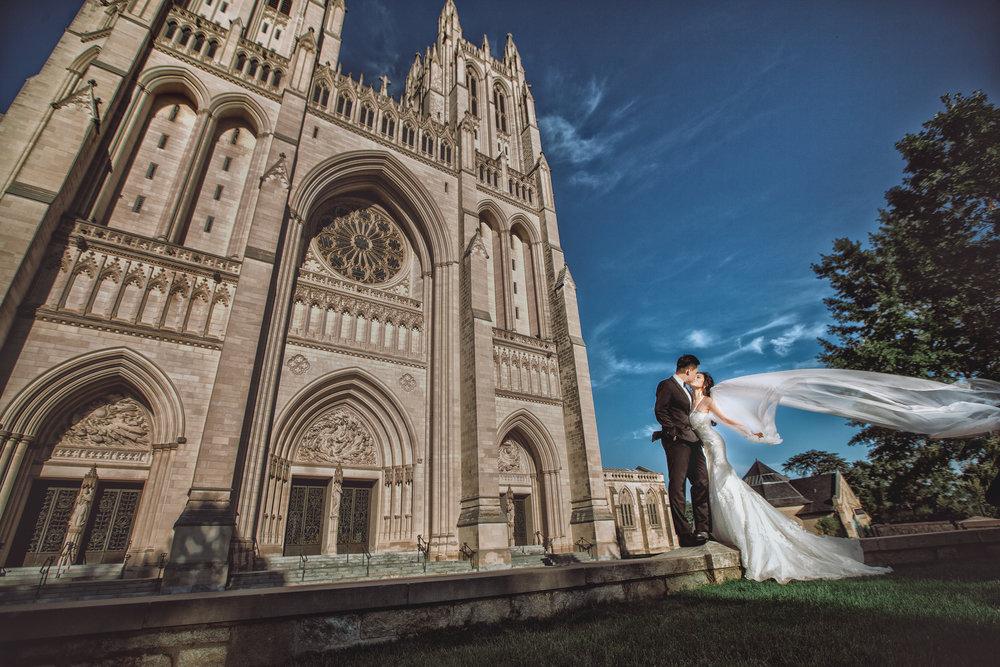 国家大教堂(National Cathedral) 华盛顿婚纱;华盛顿DC婚纱;大华府婚纱;DC婚纱