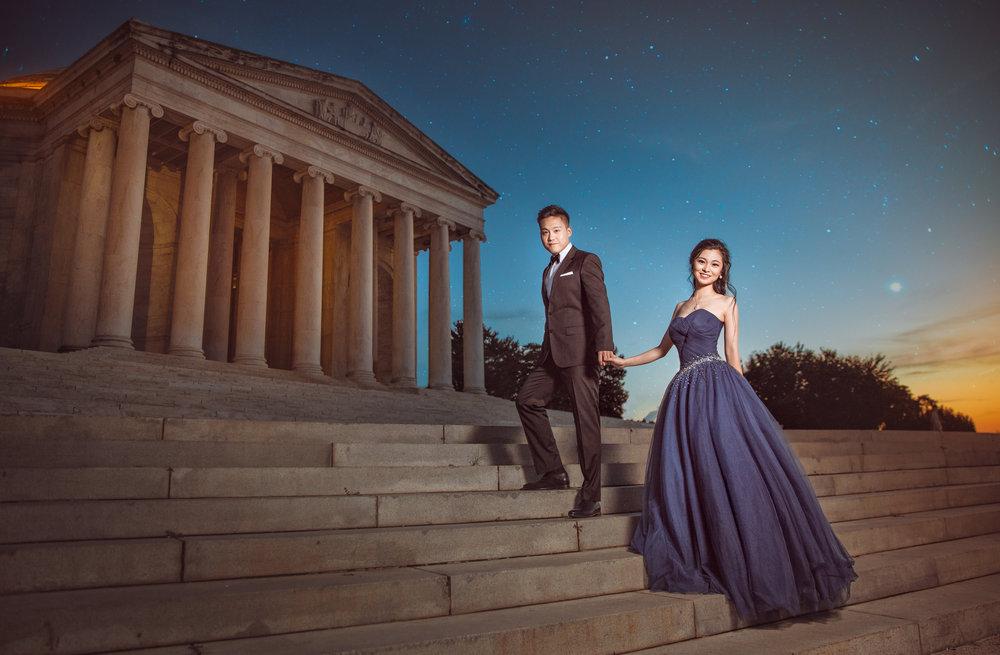 杰佛逊纪念堂(Jefferson Memorial) 华盛顿婚纱;华盛顿DC婚纱;大华府婚纱;DC婚纱