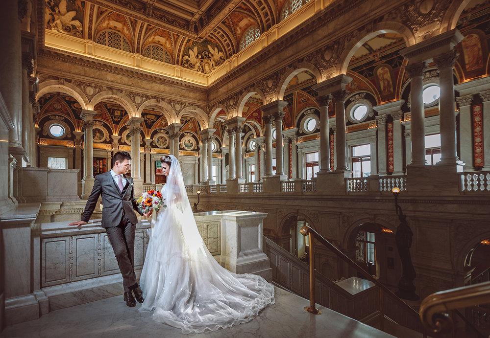 国会图书馆 (Library of Congress) 华盛顿婚纱;华盛顿DC婚纱;大华府婚纱;DC婚纱
