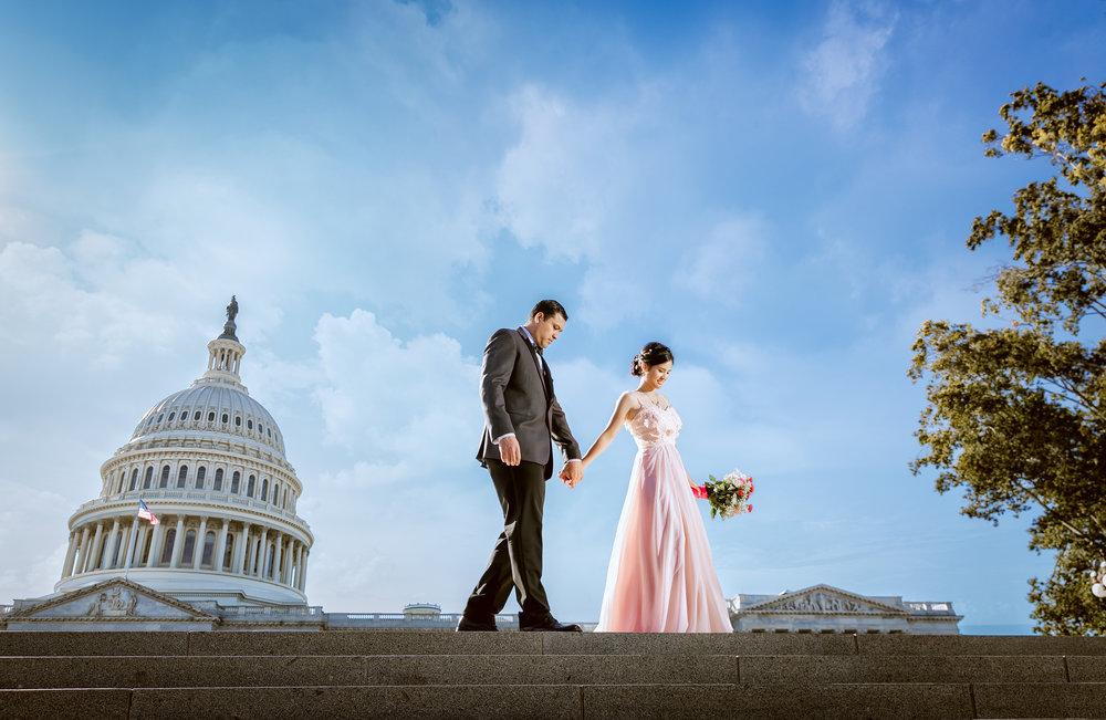 国会大厦 (US Capitol building) 华盛顿婚纱;华盛顿DC婚纱;大华府婚纱;DC婚纱