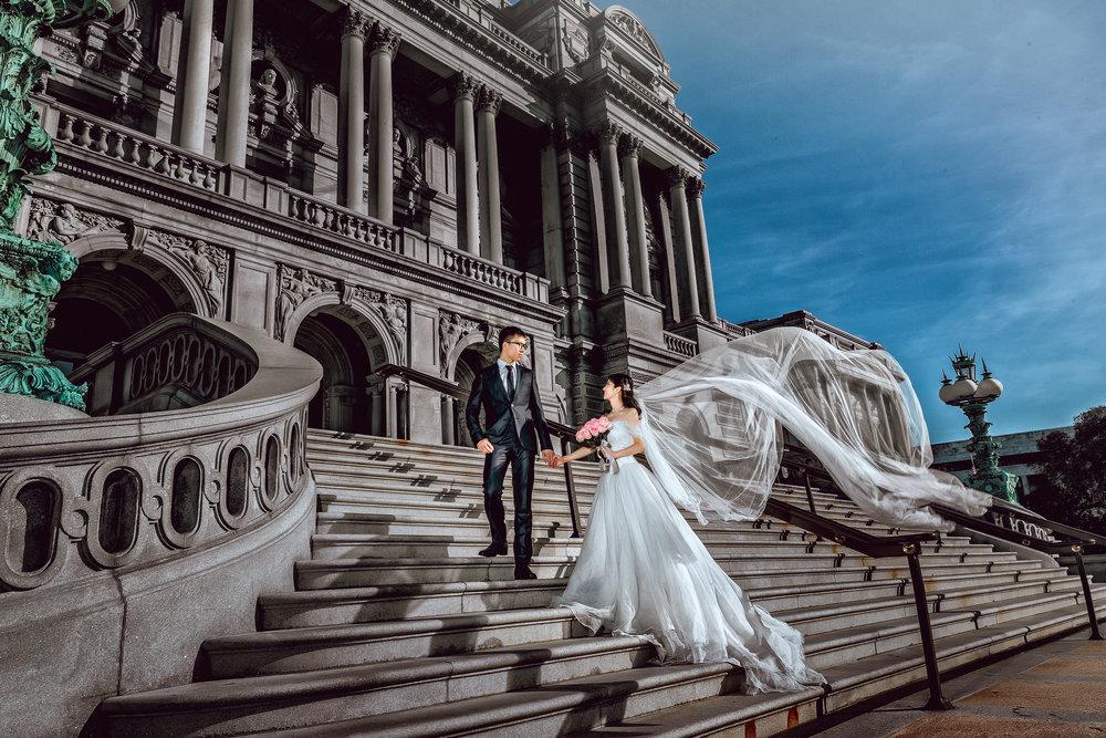 国会图书馆 (Library of Congress)华盛顿婚纱;华盛顿DC婚纱;大华府婚纱;DC婚纱