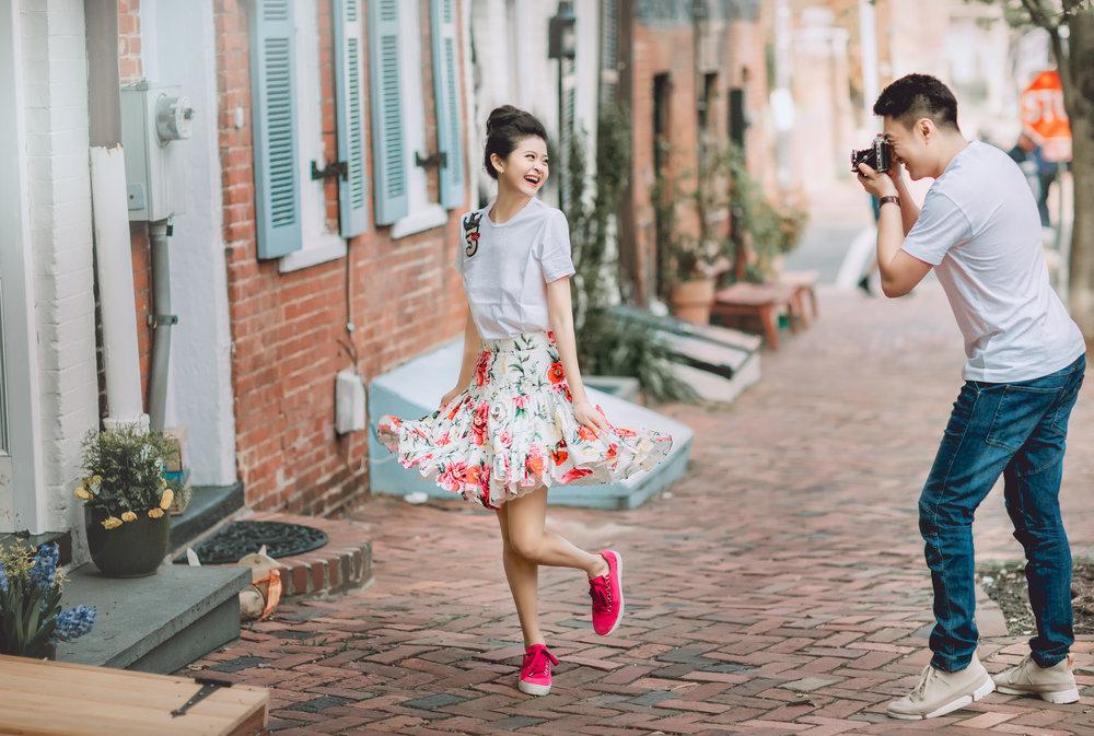 亚历山大老城区(Old Town Alexandria)华盛顿婚纱;华盛顿DC婚纱;大华府婚纱;DC婚纱