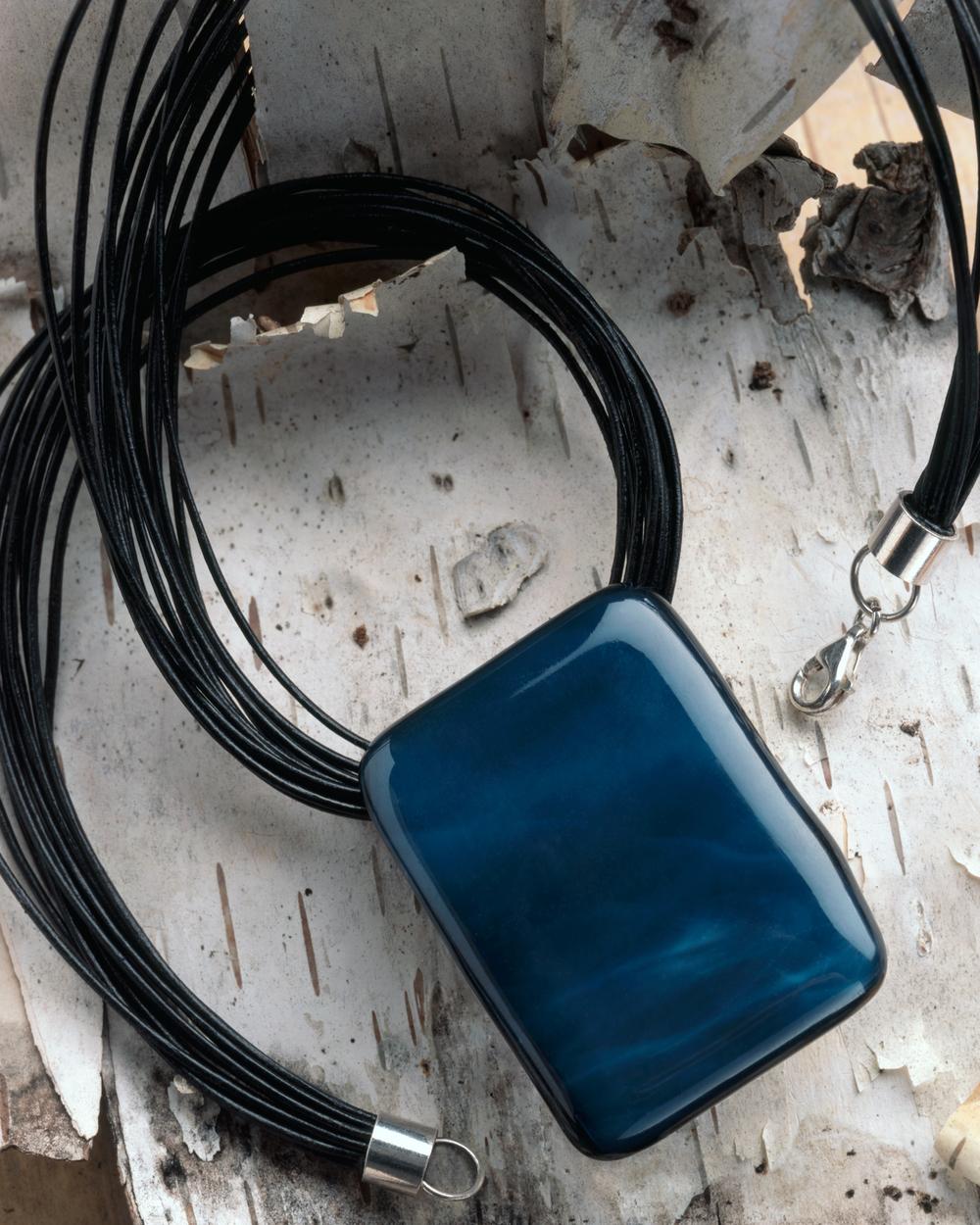 Indigo Glass Pendant