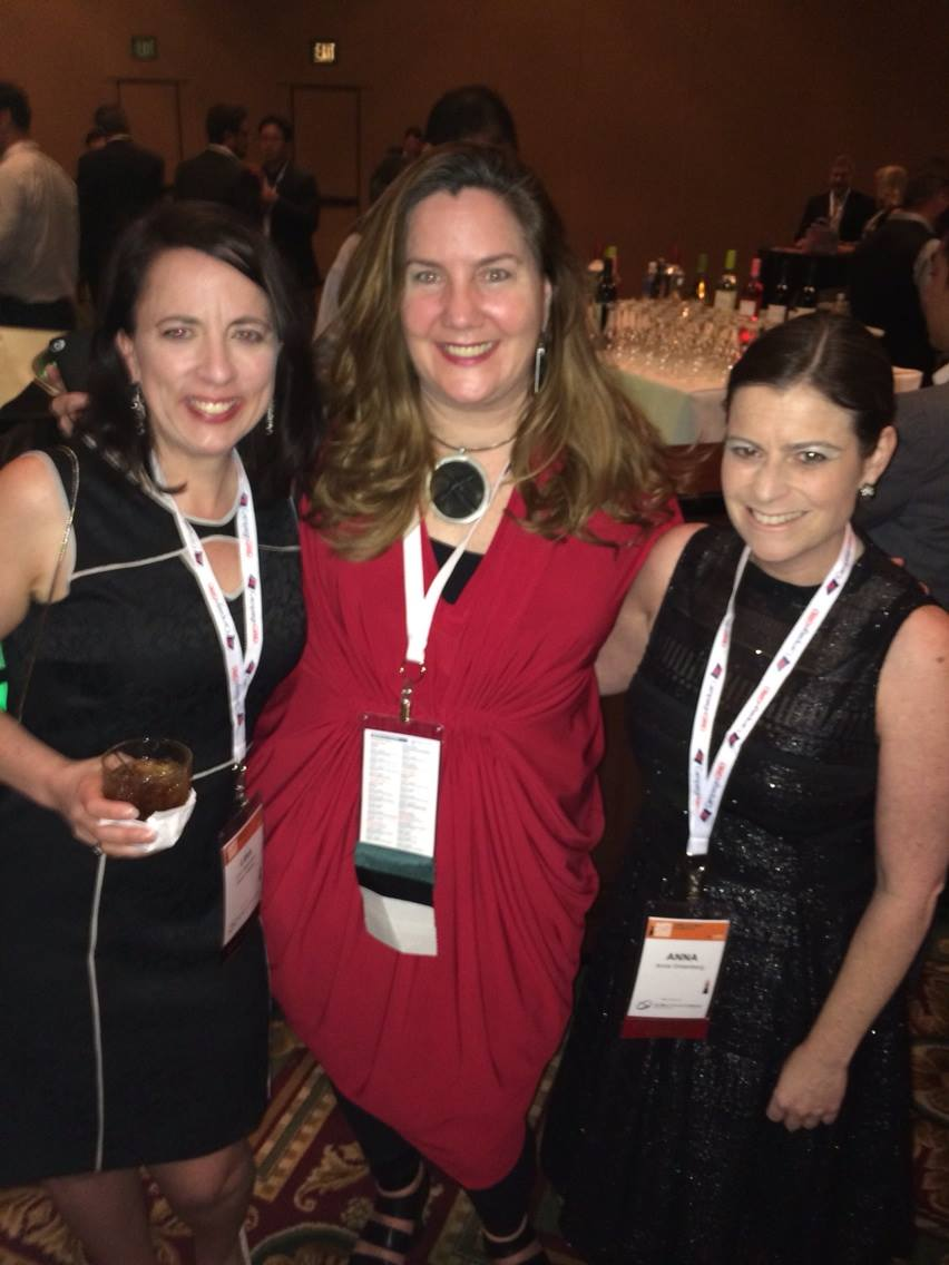 "Lisa MacLean from Moxie Media, Amy Pritchard, and Anna Greenberg of GQRR who won ""2014 Pollster of the Year"""