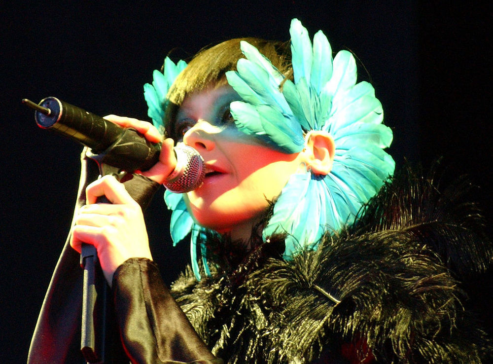 by Zach Klein from New York, New York, USA (Bjork, Hurricane Festival) [ CC BY 2.5 ],  via Wikimedia Commons