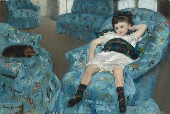 Mary Cassatt, Little Girl in a Blue Armchair, 1878, National Gallery of Art.