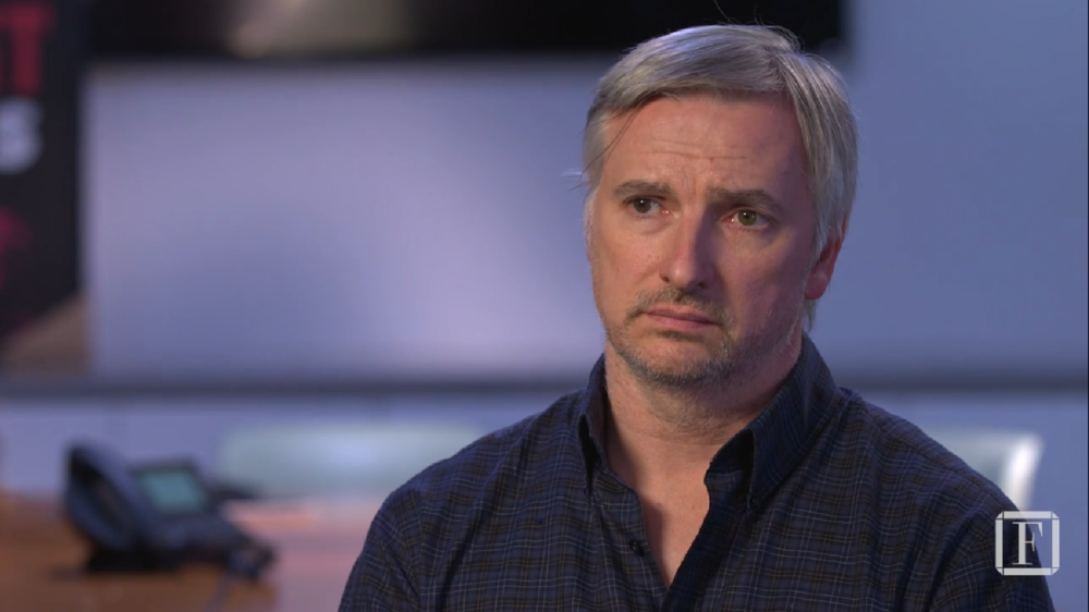 "screenshot of Glen Mazzara in "" Meet the Former 'The Walking Dead' Producer Diversifying the Writers' Room "" at  Fortune"