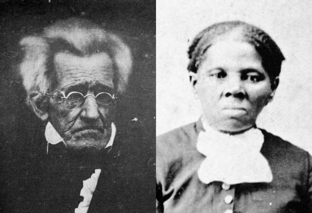 Andrew Jackson (left) and Harriet Tubman (right)