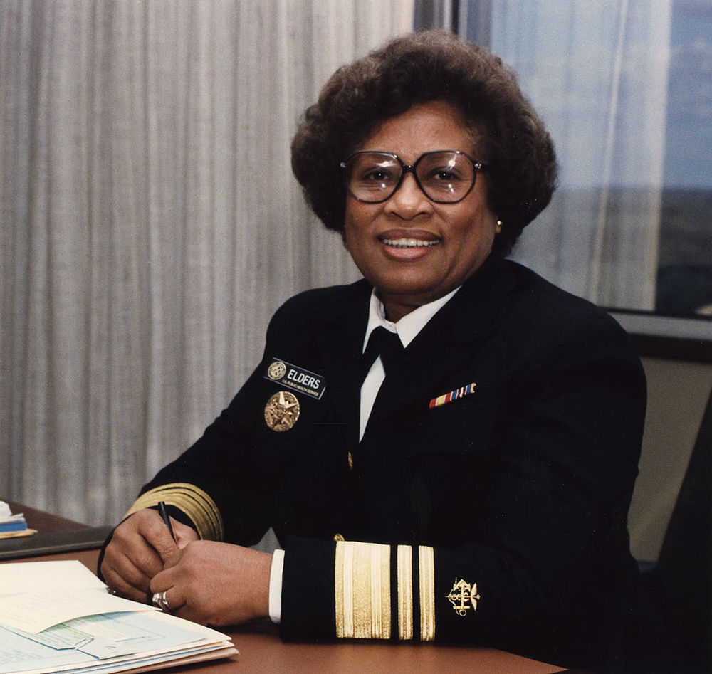 M. Joycelyn Elders, the first African American appointed as Surgeon General of the United States