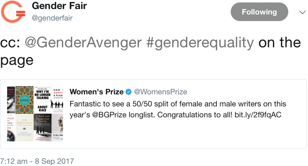 GenderAvenger Gender Fair