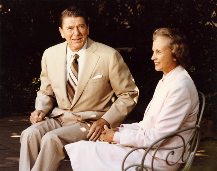 Ronald Reagan and Sandra Day O'Connor, 1981