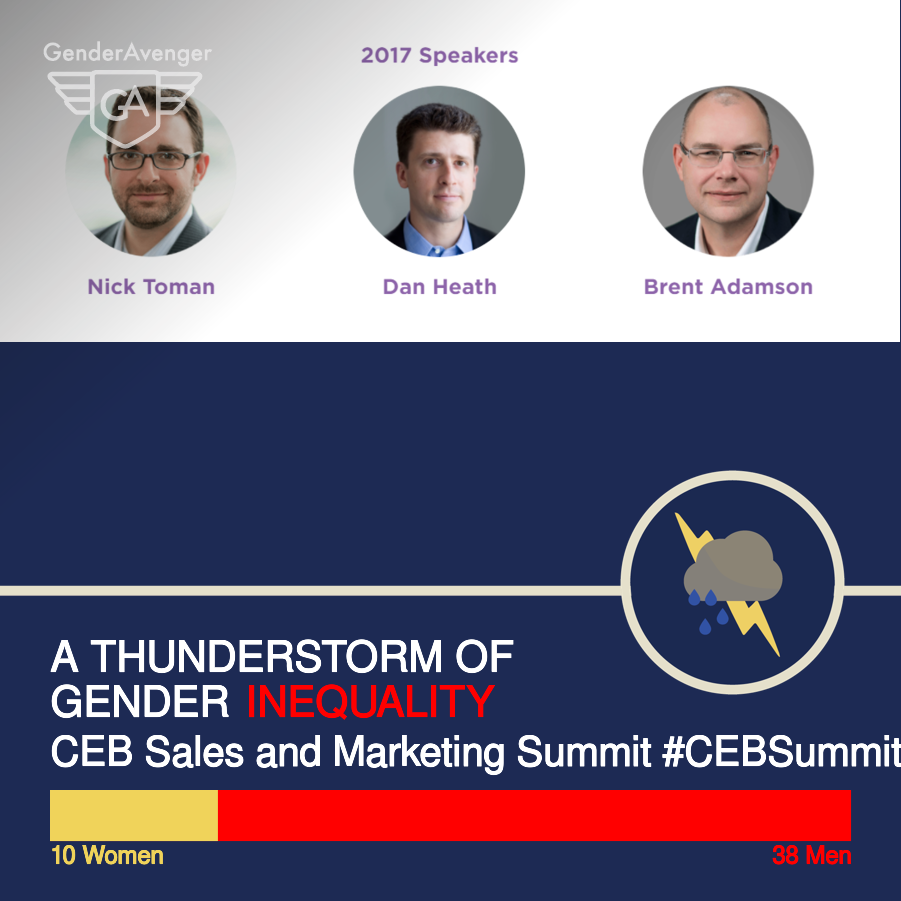GenderAvenger GA Tally CEB Sales and Marketing Summit