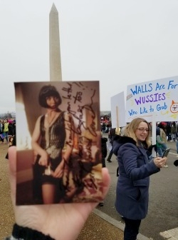 Miss Fisher makes it to the 2017 Women's March in Washington, D.C. via  thetoristori