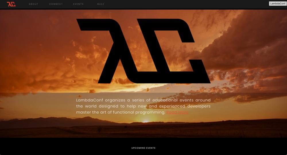 screenshot of the LambdaConf website