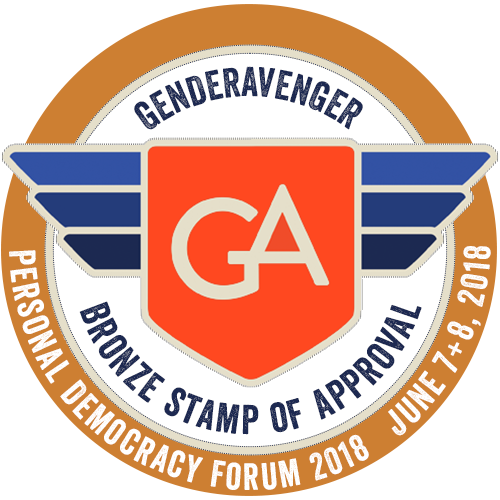 Personal Democracy Forum 2018 GenderAvenger Stamp of Approval
