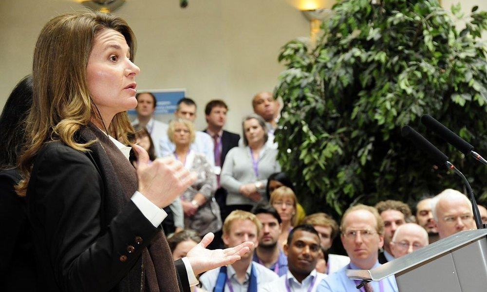 Melinda Gates. Photo credit: DFID - UK Department for International Development [ CC BY 2.0 ],  via Wikimedia Commons