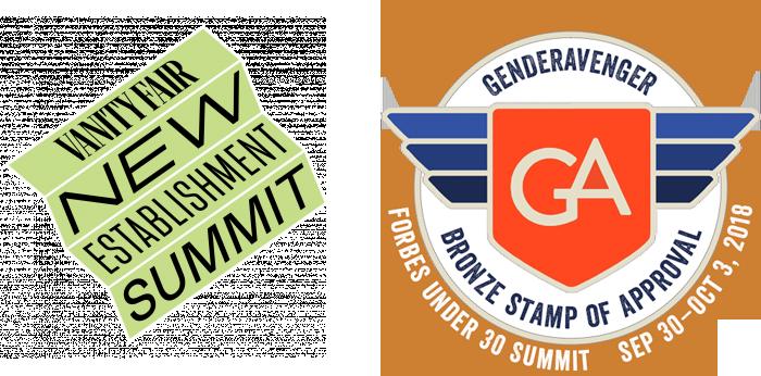 Vanity Fair New Establishment Summit 2018 GA Bronze Stamp of Approval