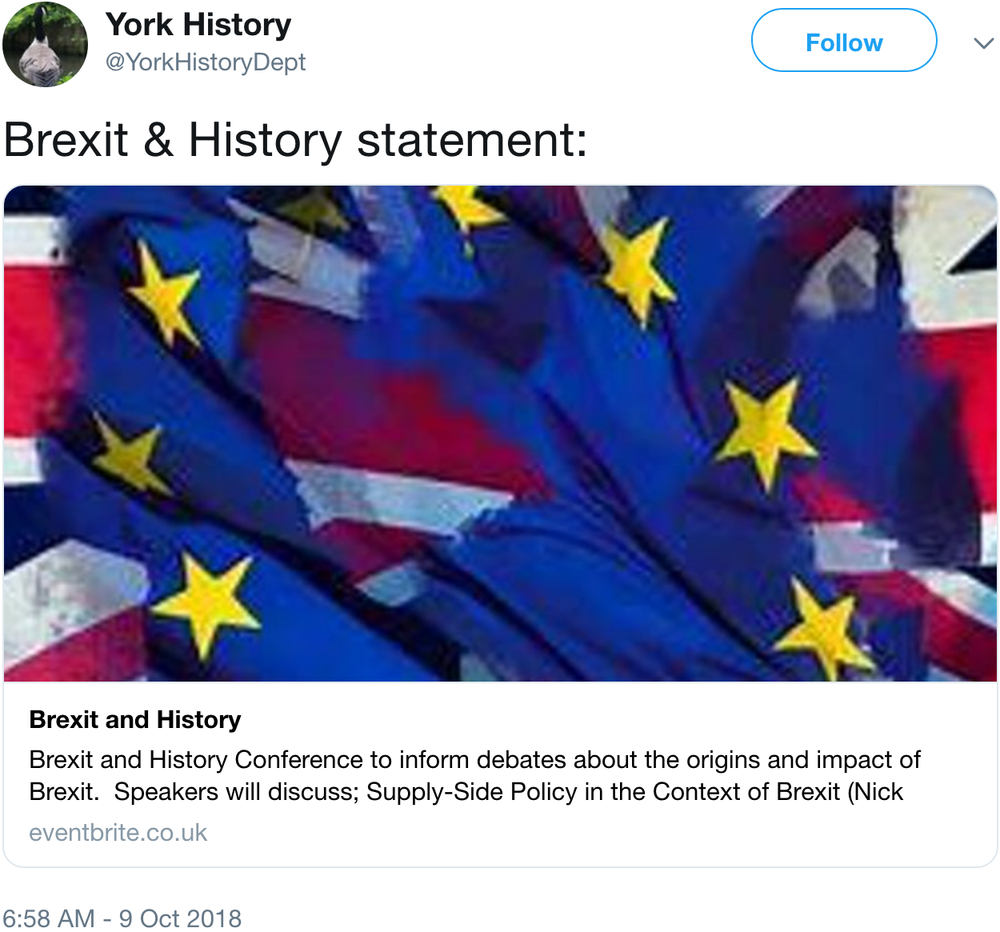 screenshot of tweet by @YorkHistoryDept