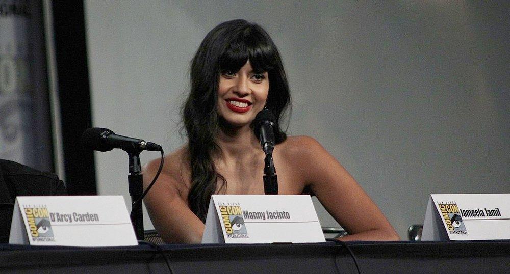 Jameela Jamil. Photo credit: aitchisons [ CC BY 2.0 ],  via Wikimedia Commons